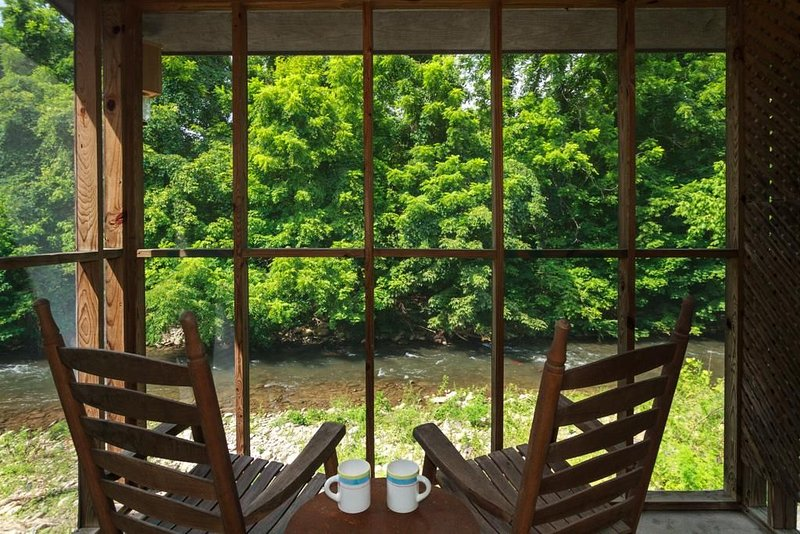 Charming Cottage Right On Cosby Creek!  Enjoy the waterfall from the porch!, aluguéis de temporada em Cosby