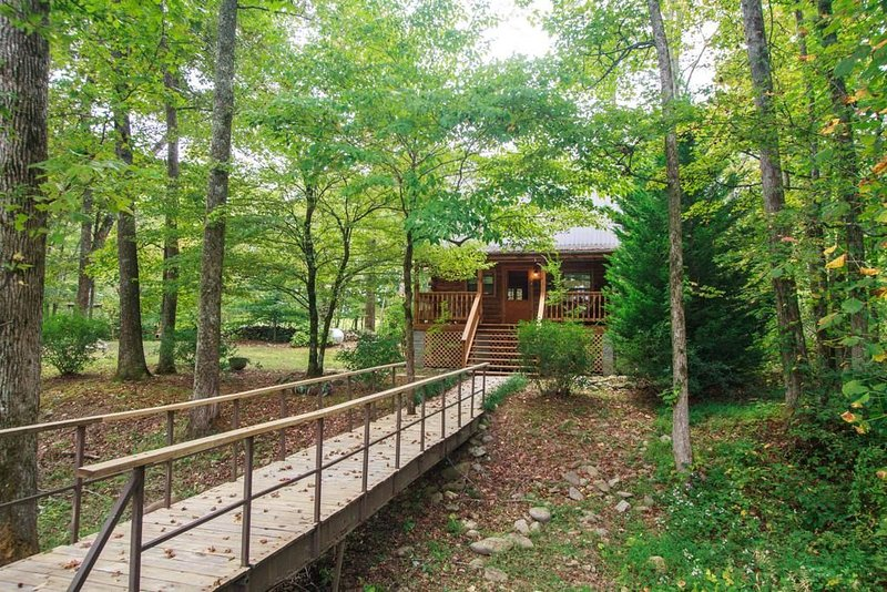 PRIVATE LOG CABIN - NEXT TO TROUT STREAM - FISHING ON PROPERTY, vacation rental in Cosby