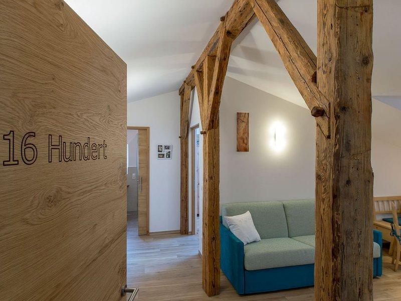 Antikes, aber modernes Apartment mit Terrasse, Bergblick, WLAN, Parkplatz; Haust, vacation rental in Tarres