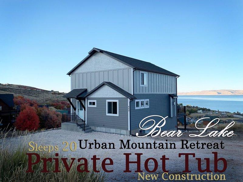 NEW Build Bear Lake Urban Mountain Retreat-Breathtaking Views & private Hot Tub – semesterbostad i Garden City