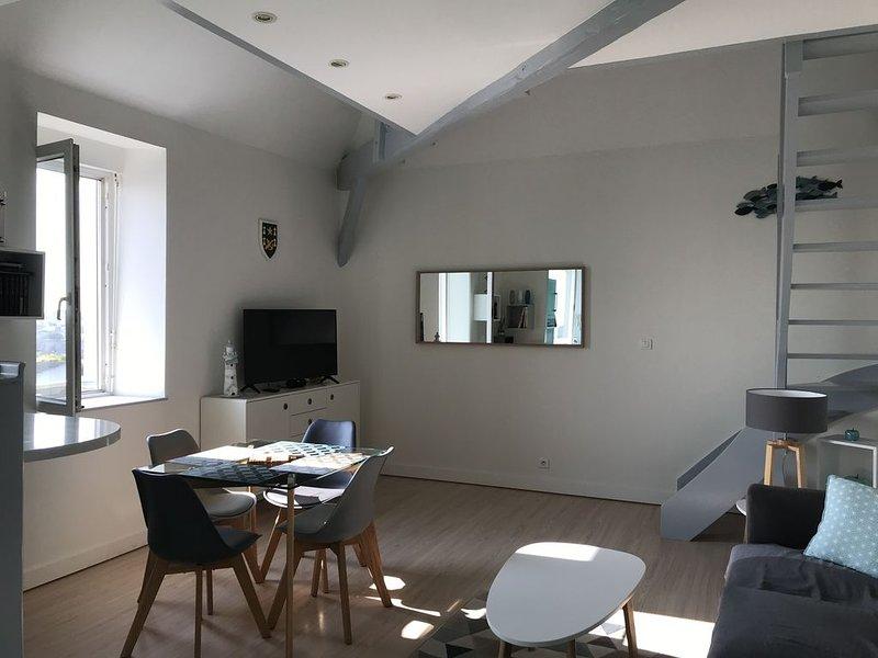 Bel appartement tout équipé 2 à 4 personnes centre ville  de Pornic, vacation rental in Loire-Atlantique
