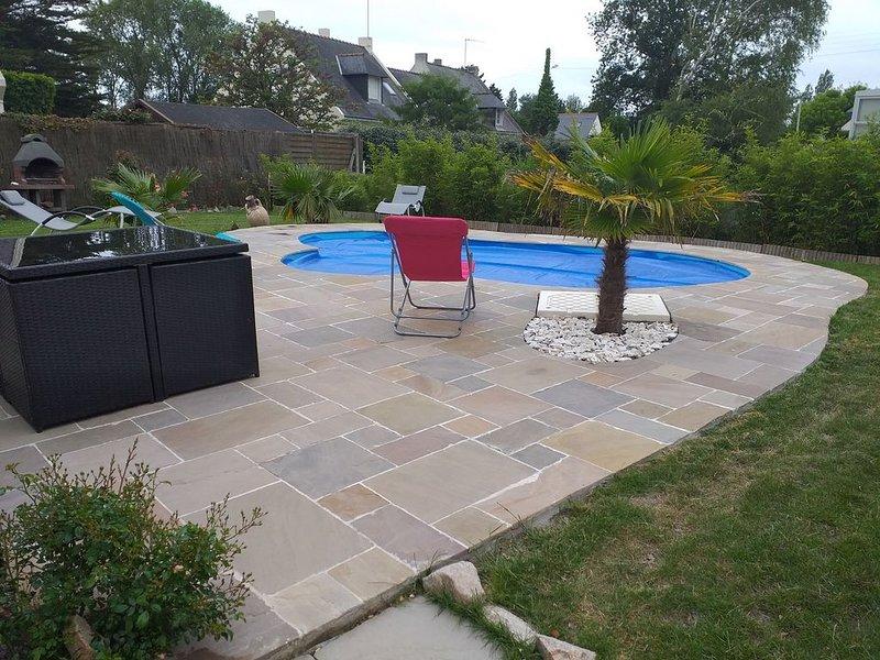 Maison neuve à 200 m de la mer avec piscine privée, location de vacances à Piriac-sur-Mer