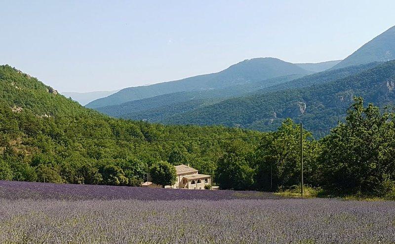 Ancienne bergerie entièrement réaménagée avec vue imprenable sur les montagnes., Ferienwohnung in Roche-Saint-Secret-Beconne