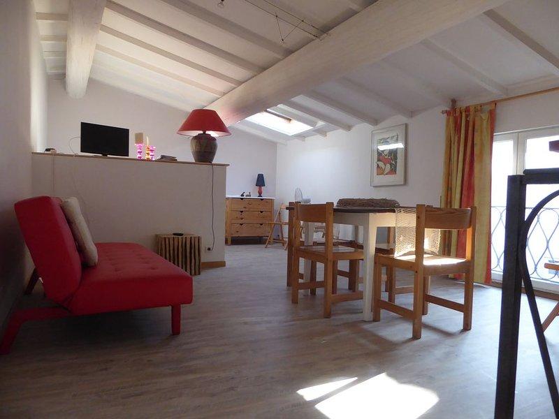 Très beau studio au cœur d'un village viticole proche de la Méditerranée., holiday rental in Portel-des-Corbieres
