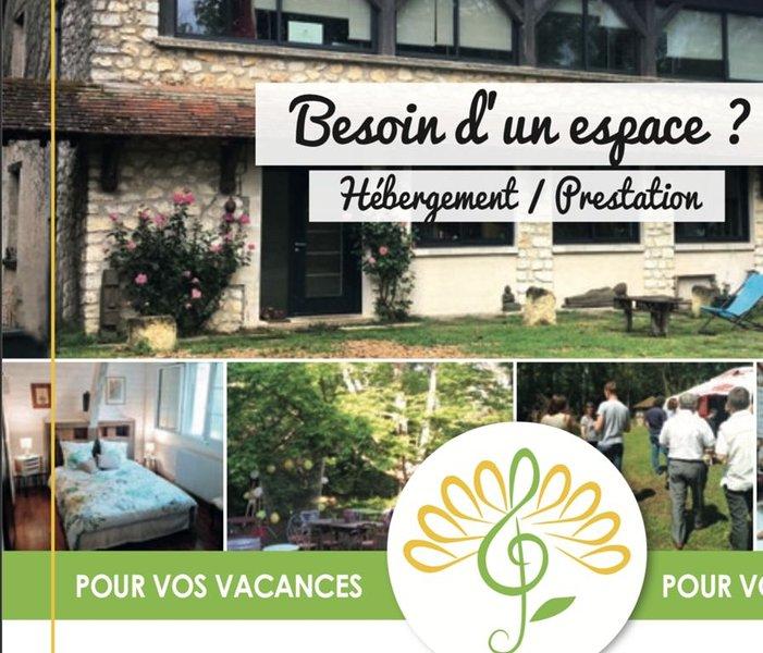 Ressourcement et découverte au coeur des châteaux de la Loire., holiday rental in Cangey