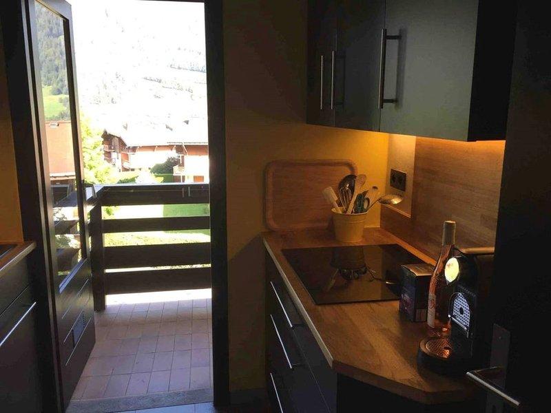 Appartement restauré récemment avec très belle vue, location de vacances à Megève