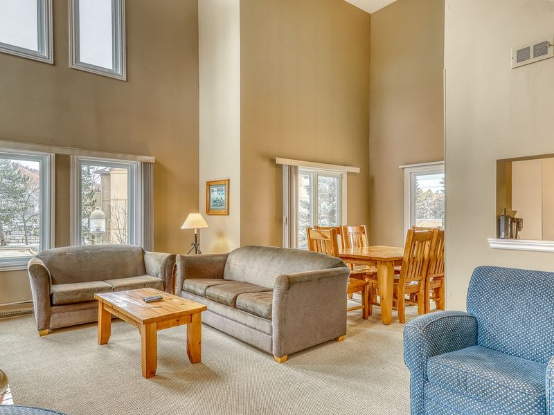 Ideally located condo w/ fireplace - 500 feet to the lifts & Village!, holiday rental in Singhampton