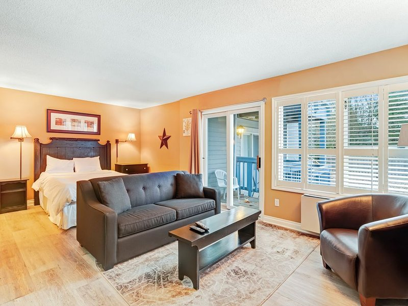 Well-located condo w/ shared pool & hot tub - walk to lifts, on bus route!, holiday rental in Ravenna