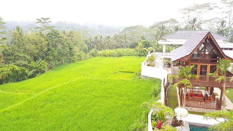 Peaceful Private Pool Villa - 9 BR with Amazing Green Rice Field View, holiday rental in Bresela