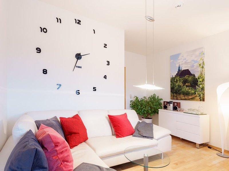 3 Raum-Wohnung mit Blick auf die Zitadelle Petersberg, vacation rental in Erfurt