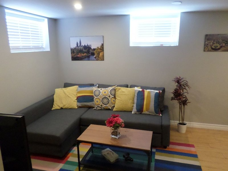Fantastic & Modern Downtown 1-Bed Basement Apt. Parking, WiFi & Netflix included, holiday rental in Overbrook
