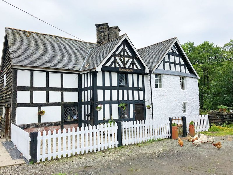 17th Century timber frame Welsh Farmhouse 1664. Rural working farm., holiday rental in Llanwddyn