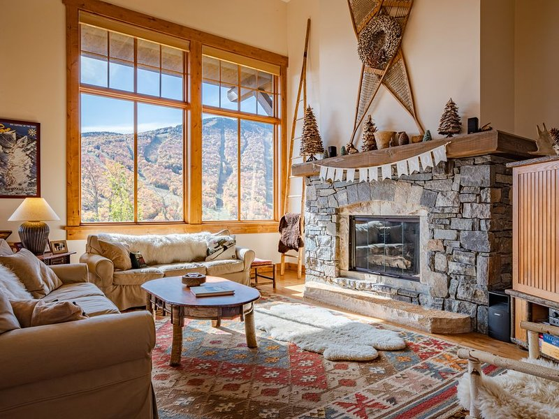 Spruce Peak Mountain Cabin Ski-in/Ski-Out at Stowe, holiday rental in Underhill Center