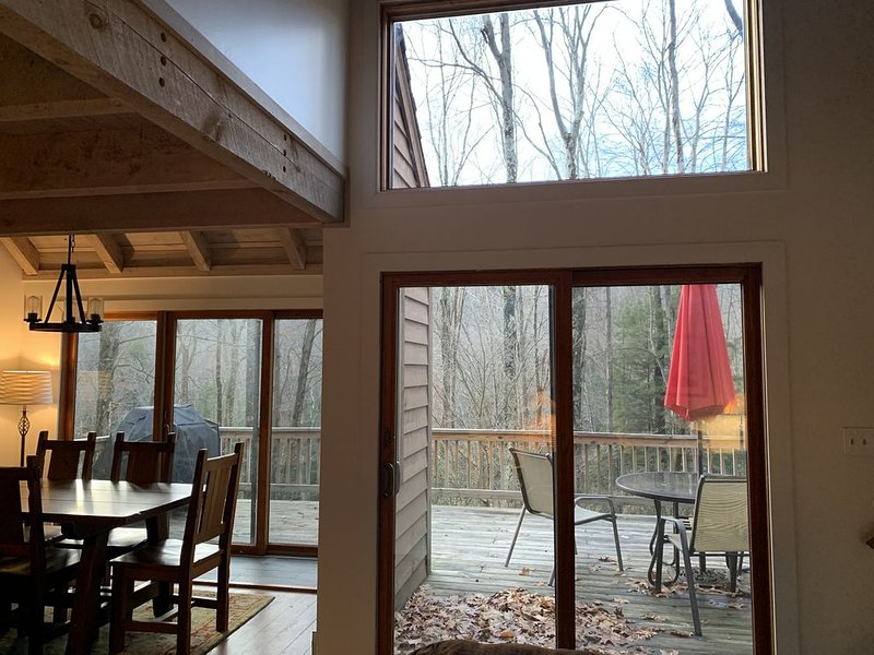 Mountain Chalet-hot tub, wood burning stove, pets welcome, minutes to ski slopes, vacation rental in McHenry