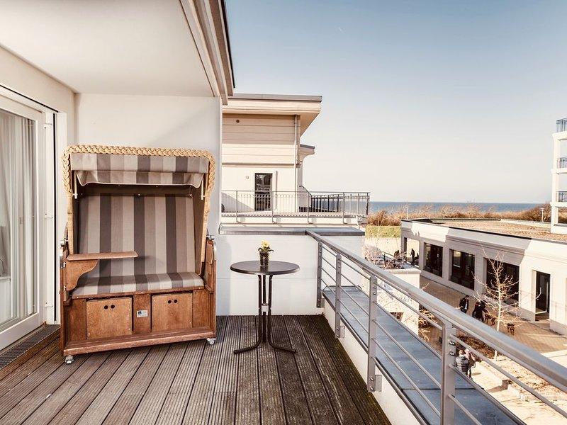 Ostseeblick FeWo mit Terrasse / Villa Seeadler, holiday rental in Borgerende-Rethwisch