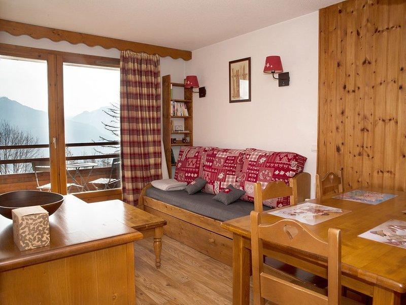 Appart. skis au pieds, 2 chambres, piscine, sauna, location de vacances à L'Argentière-la-Bessée