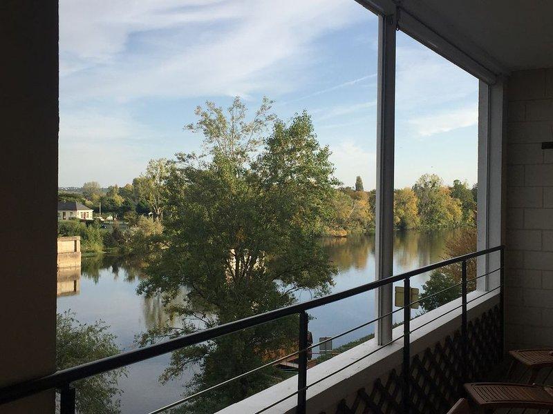 Luxury apartment overlooking the River Loire, close to Château and restaurants., location de vacances à Pocé-sur-Cisse