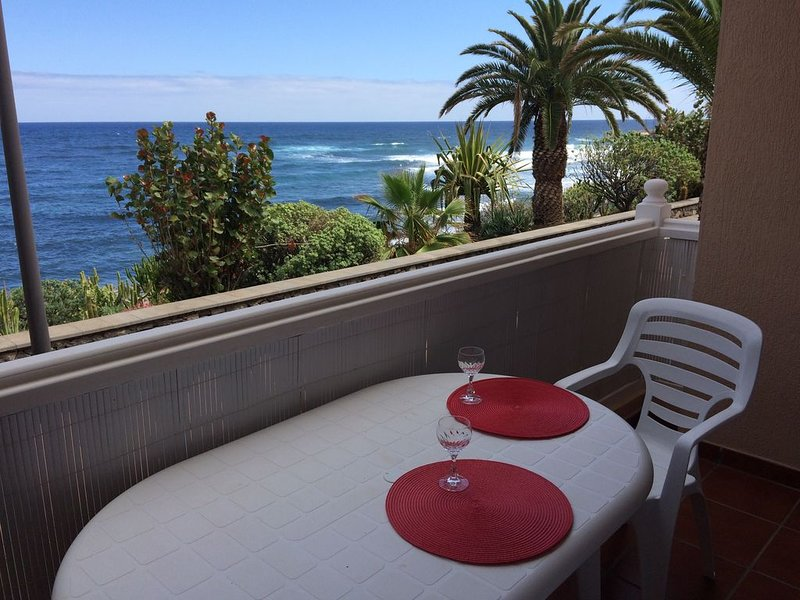 Directly on the Beach with Palm Trees,  Bougainvillea, Banana Plantations, holiday rental in El Tanque