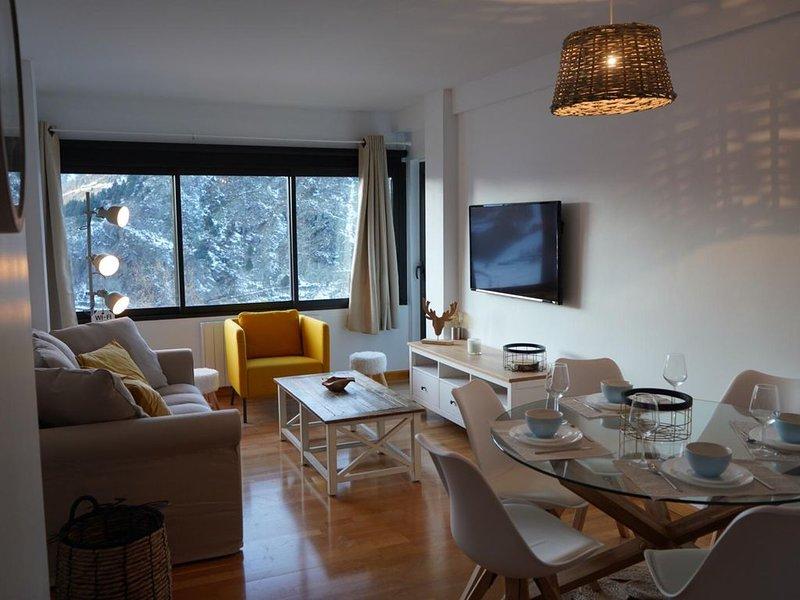 appartement chaleureux à 5 min à pieds des pistes de skis, holiday rental in Soldeu