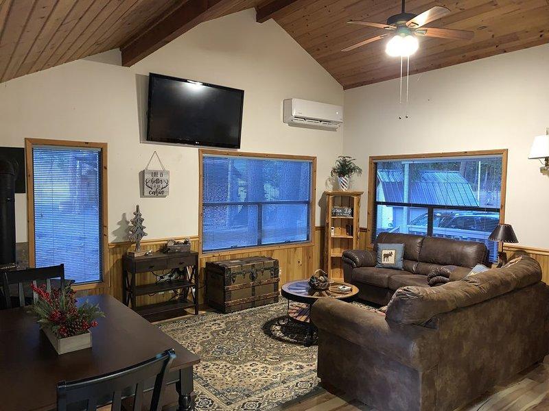 Near Suncadia 2 Bdrm + Loft Cabin w/hot tub:near Roslyn on acreage, vacation rental in Ronald