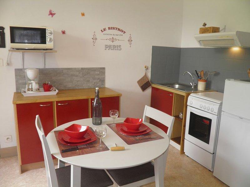 Studio 24m² 3*** avec jardin, wifi gratuit, plein sud, holiday rental in Saint-Diery