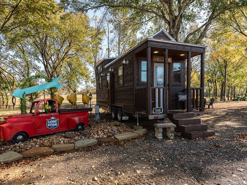 Newly Built Tiny House Near College Station and Round Top Area, alquiler de vacaciones en Caldwell