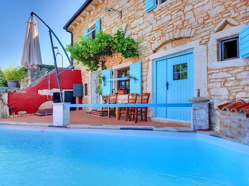 Charmante Steinvilla mit privatem Pool, WLAN, Klima, Dart, Sonnenliegen und toll, location de vacances à Stokovci