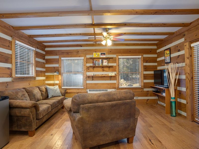 Clean, Modern, Sunny Log Cabin – Country Setting Convenient To Everything, holiday rental in Gladeville