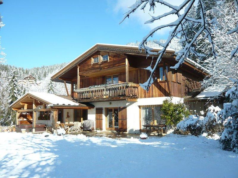 2km500 in La Clusaz Apt cottage, Jacuzzi, Wi-Fi, holiday rental in Saint-Jean-de-Sixt