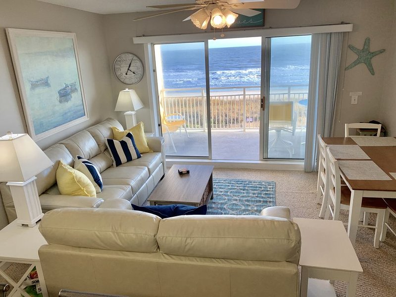Escape reality in a clean and modern oceanfront 2 bed/2 bath, vacation rental in Ocean Isle Beach