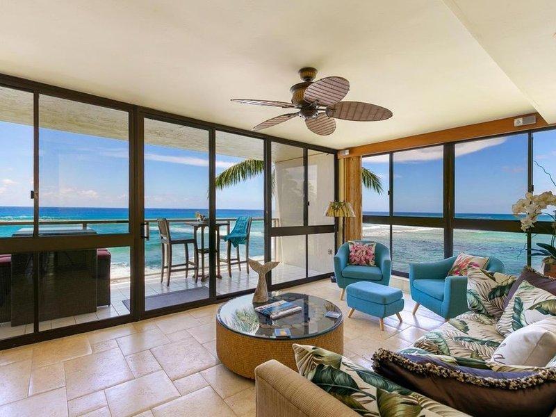 Kuhio Shores #319 - Oceanfront in Poipu - Ocean views from every room!, holiday rental in Poipu