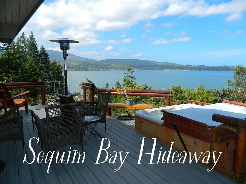 Hot tub! Stunning Waterfront and Mountain Views from this house  Professionally, vacation rental in Sequim