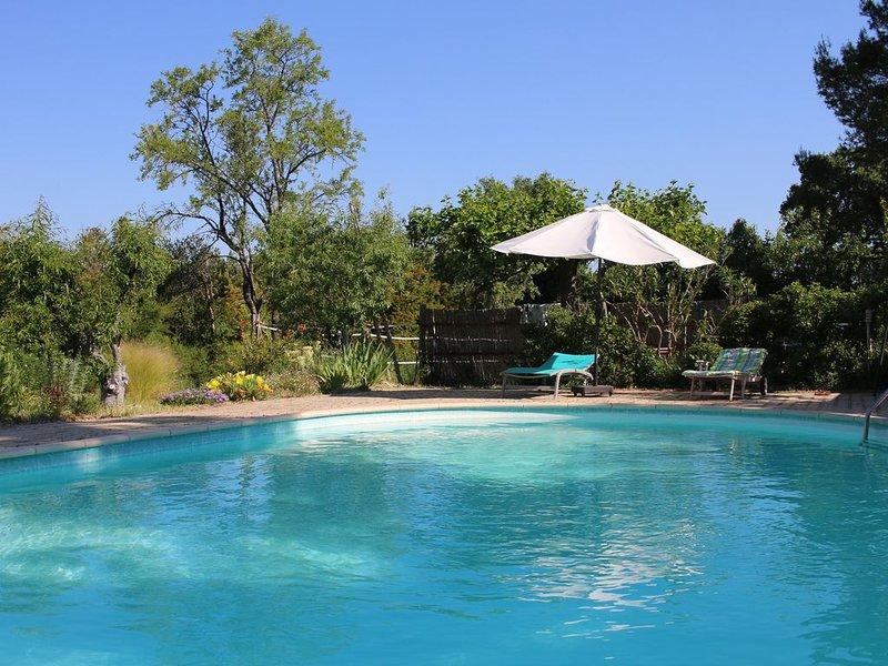 Gîte sombra y sol  belle piscine sur grande propriété  arborée, casa vacanza a Pernes-les-Fontaines