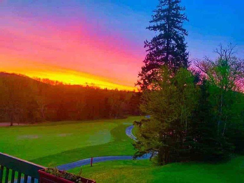 Superbe condo sur le golf avec une très belle  vue de la montagne et la rivière., holiday rental in La Conception