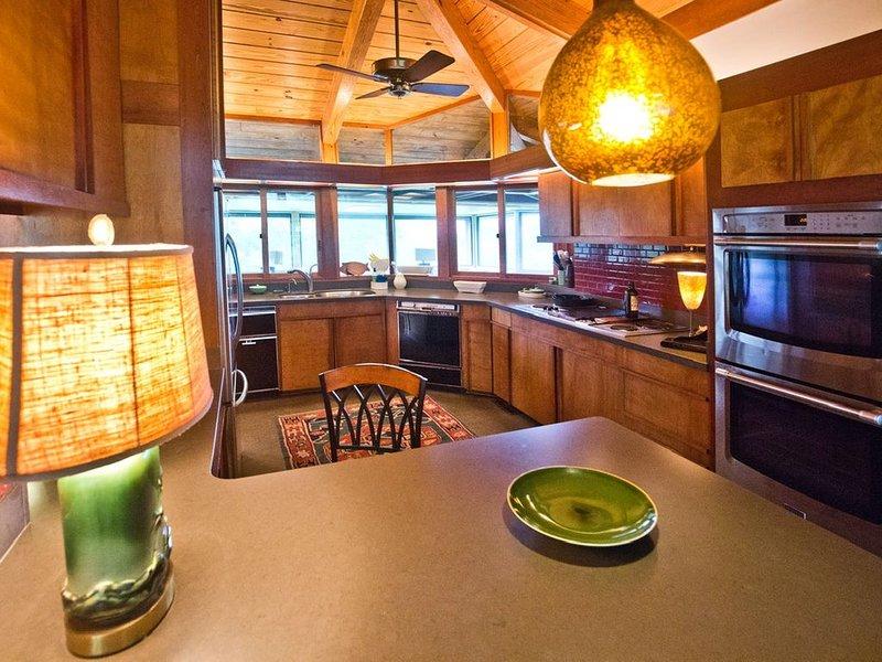 Frank Lloyd Wright inspired home in idyllic setting, vacation rental in Rabun Gap
