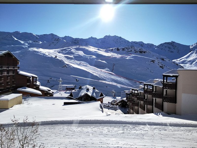 Val Thorens, Reine Blanche 10, south apartment; ski foot for 5/7 pers., holiday rental in Saint-Martin-de-Belleville