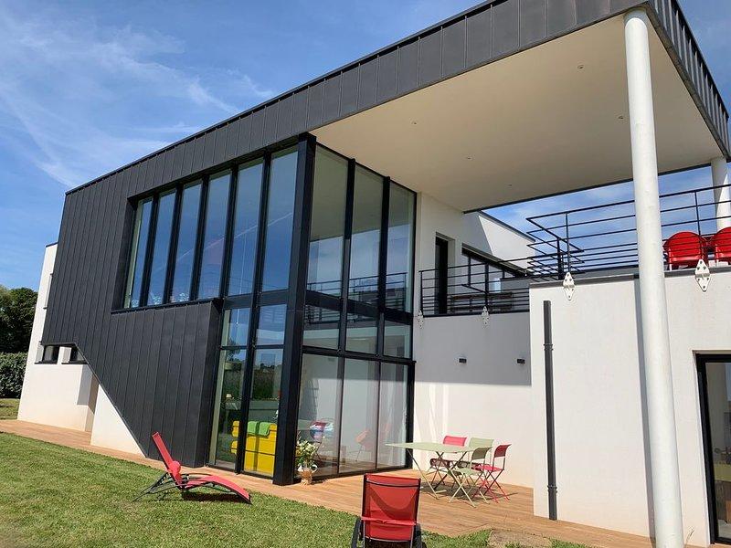 Villa d'Architecte  proche du Sémaphore  de Lervily à Audierne Esquibien, aluguéis de temporada em Esquibien