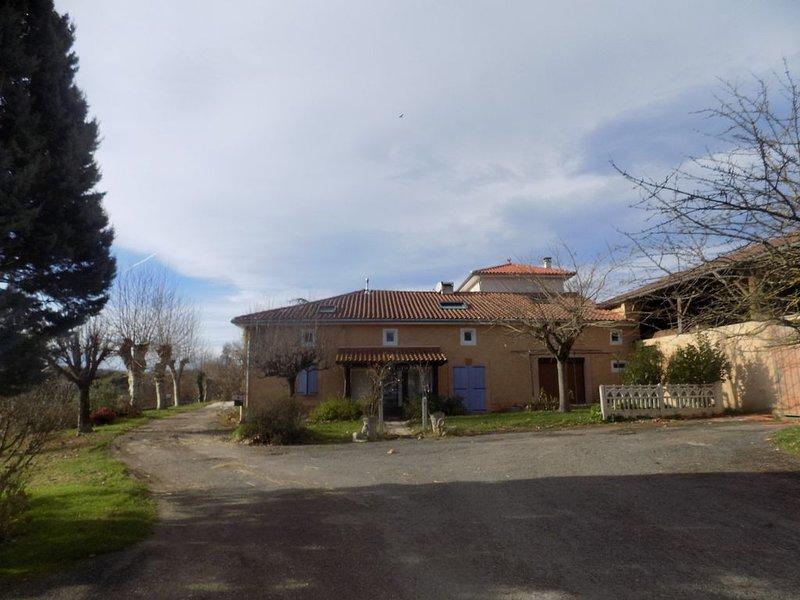 Appartement situé à l'étage d'une ferme entierement rénovée avec piscine, holiday rental in Saint-Gaudens