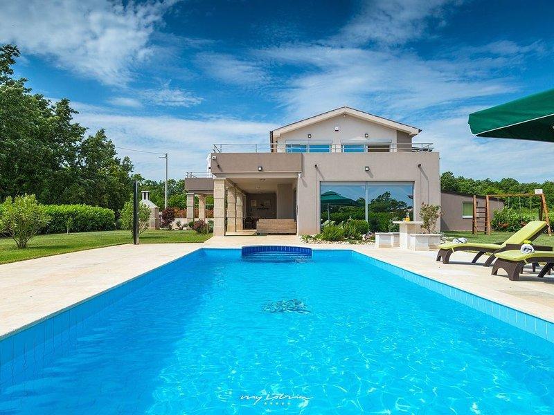 Beautiful villa with private pool near Labin, holiday rental in Bratulici