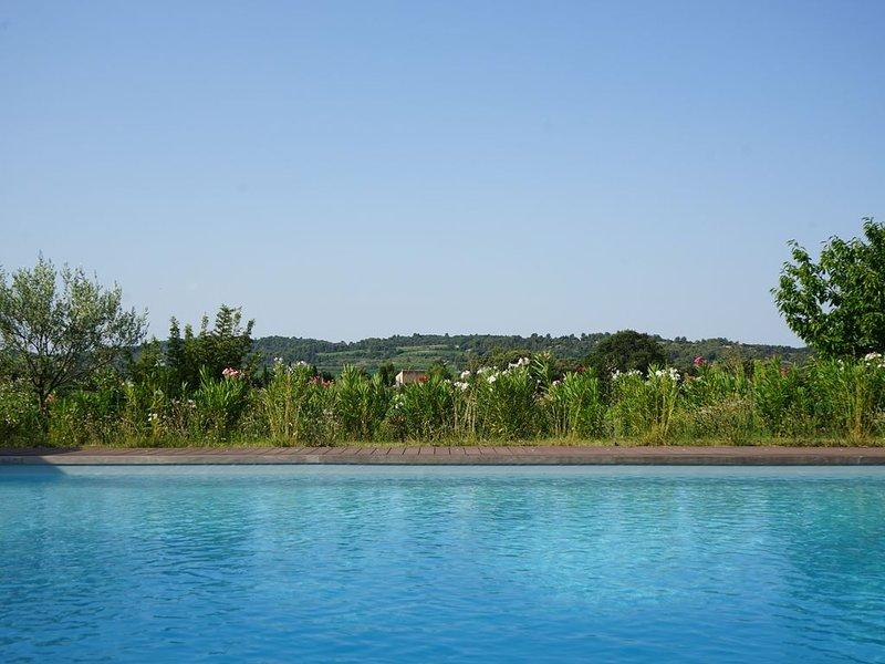 Grand Mas Provençal rénové pour 10 pers et 2 bb avec piscine au pied du Ventoux, location de vacances à Bedoin