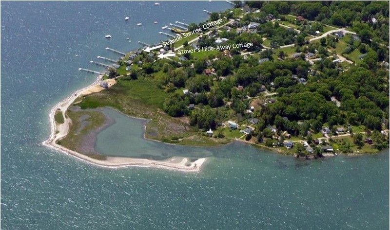 Right at the water's edge with access and a close walk to Stover's Cove.