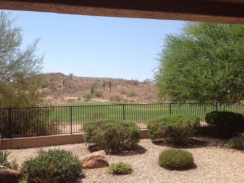 Vista desde el patio trasero.