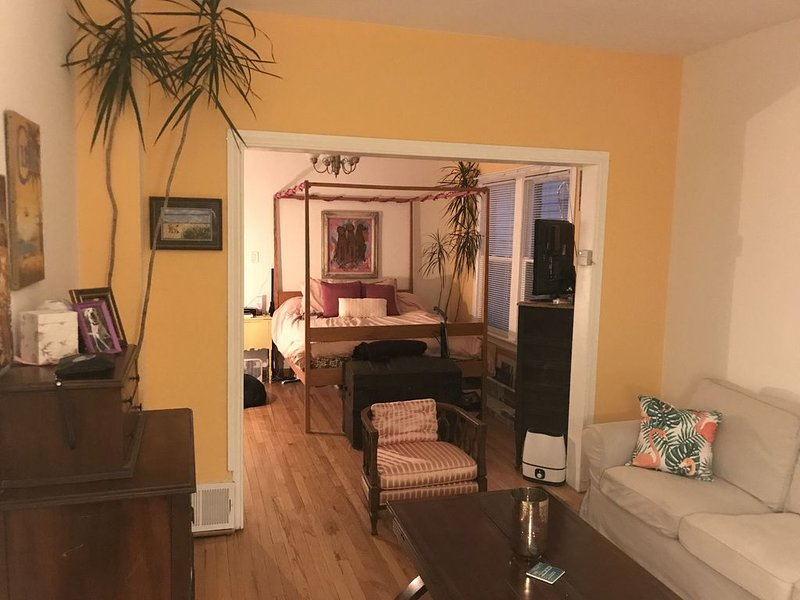 Pup Friendly Apartment with Fenced Backyard, holiday rental in Oak Park