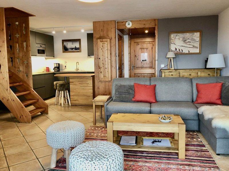 ARC 1800-Superbe Duplex 85m2 -  ⛷Skis aux pieds-Vue panoramique-Garage-Piscine, holiday rental in Les Arcs