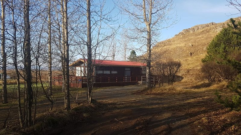 Cozy cabin close to all the adventures off the Golden Circle, vacation rental in Fludir
