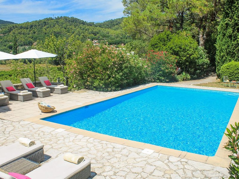Superb villa with pool set in the beautiful vineyards of Provence, casa vacanza a Callas
