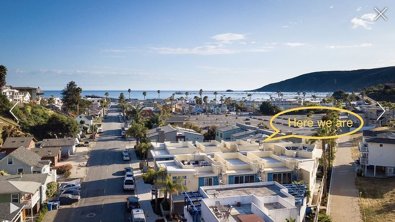 Luxury Avila Beach Condo,  roof top patio = couch, heater, fire pit & hot tub., holiday rental in Avila Beach