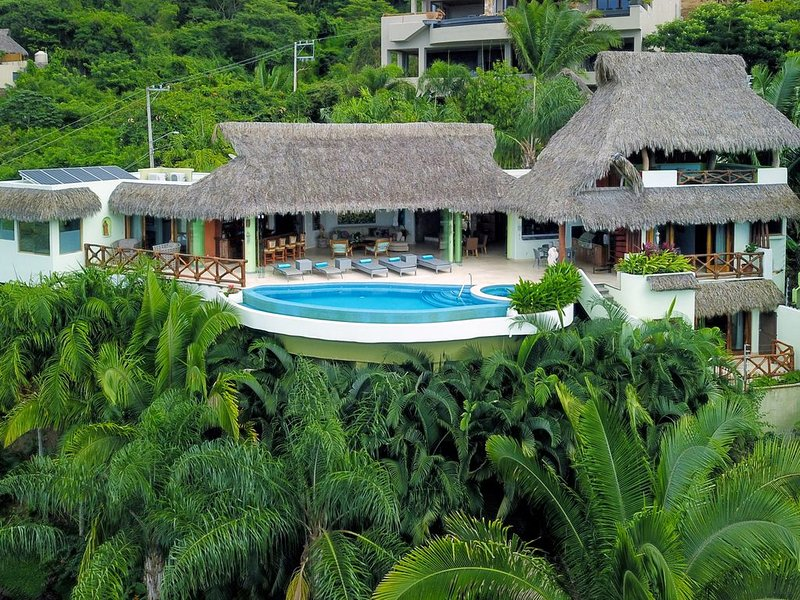 OCEAN VIEW 180 degrees!  Private Villa, Heated Pool/Jacuzzi!, holiday rental in Sayulita