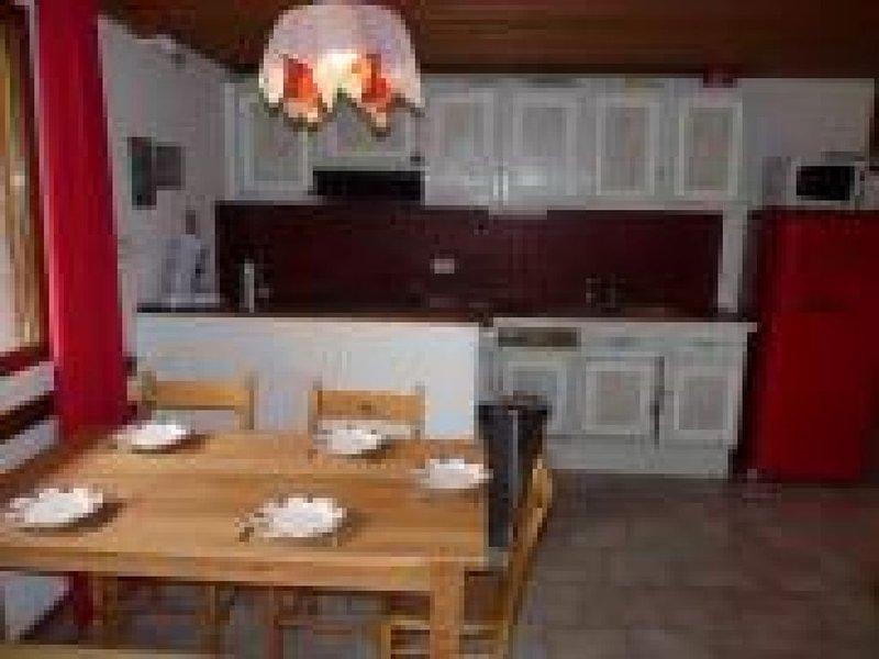 Appt en chalet 3*/ cheminée/ proche pistes ski/ village classé, vacation rental in Noasca