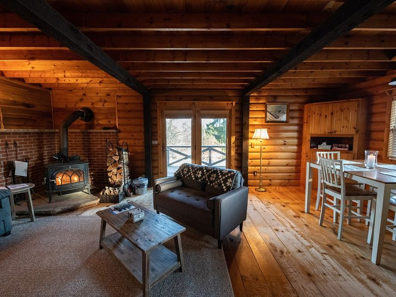 5 Miles from Elk Mountain Ski Resort. Stunning Rustic Cabin on 21 Acres, location de vacances à Jackson